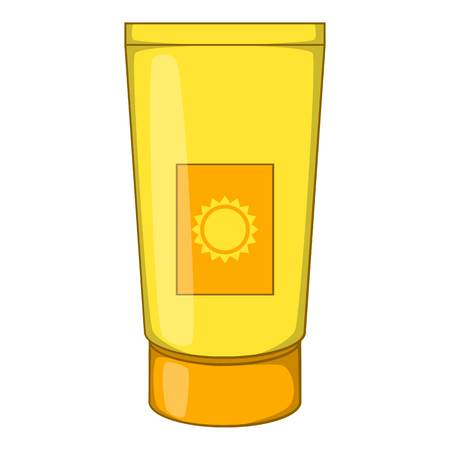 sun lotion: Sun lotion icon. Cartoon illustration of sun lotion vector icon for web