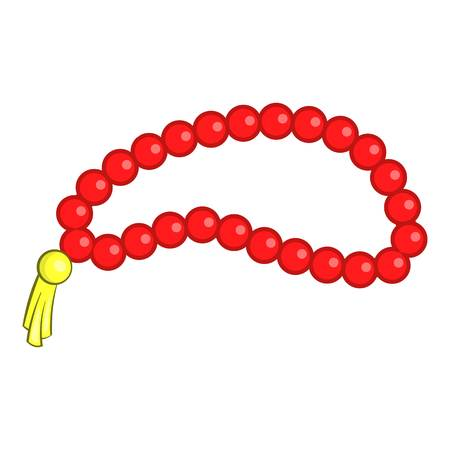 Beads icon. Cartoon illustration of beads vector icon for web design