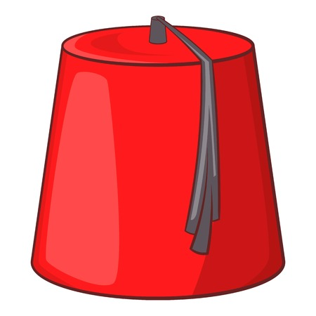 64175150 - Sombrero turco rojo icono fez. Ilustración de dibujos animados  de icono de vector de fez para diseño web a4561d40926