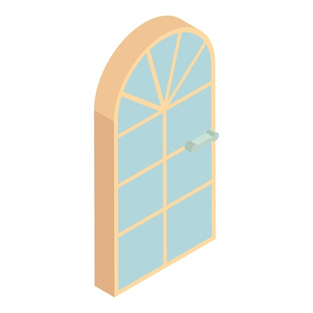 arched: Arched front door icon. Cartoon illustration of door vector icon for web design