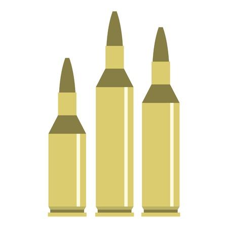 Bullet ammunition icon. Flat illustration of bullet vector icon for web design Illustration
