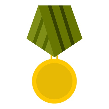 Military medal icon. Flat illustration of medal vector icon for web design