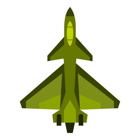 Military fighter jet icon. Flat illustration of fighter jet vector icon for web design Illustration
