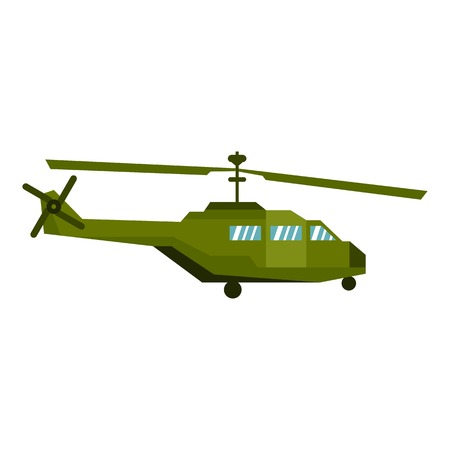 blackhawk helicopter: Military helicopter icon. Flat illustration of helicopter vector icon for web design