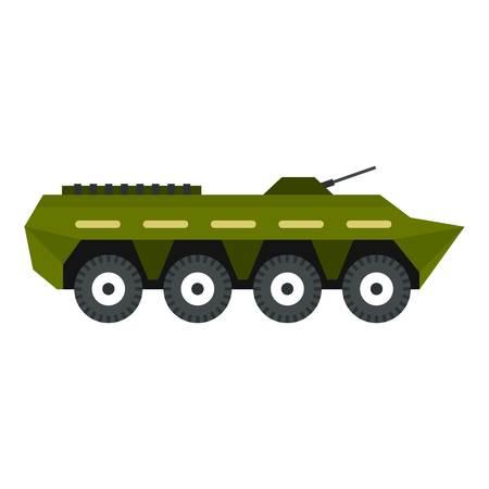 troop: Armoured troop carrier icon. Flat illustration of armoured troop carrier vector icon for web design