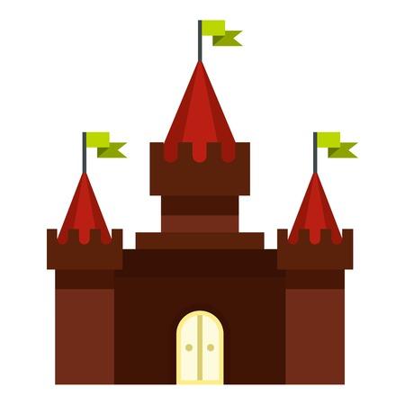 Medieval castle icon. Flat illustration of castle vector icon for web design Illustration