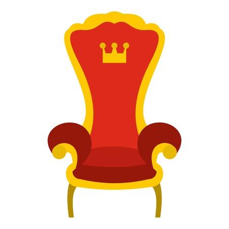 Rote Königsthron Symbol. Flache Darstellung der Thron Vektor-Symbol für Web-Design Standard-Bild - 64175247