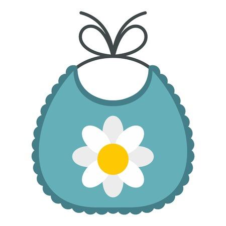 Baby bib icon. Flat illustration of baby bib vector icon for web design Illustration