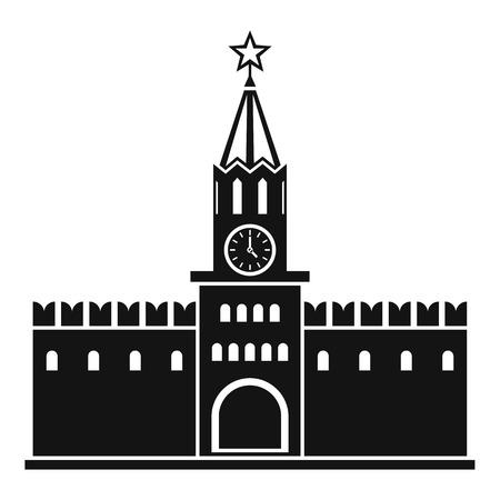 kremlin: Russian kremlin icon. Simple illustration of kremlin vector icon for web