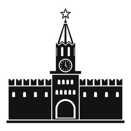 Russian kremlin icon. Simple illustration of kremlin vector icon for web