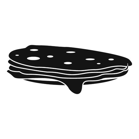 russian cuisine: Stack of pancakes icon. Simple illustration of pancakes vector icon for web
