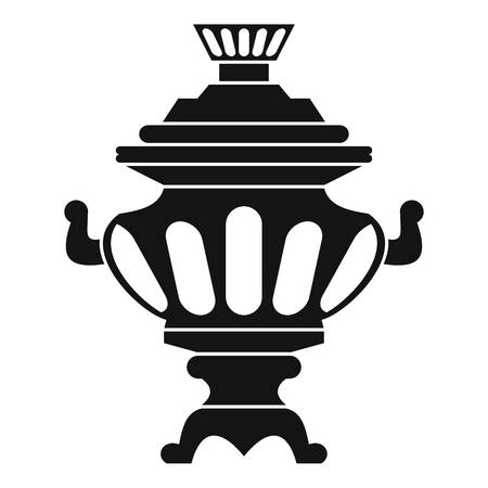 Russian tea samovar icon. Simple illustration of russian samovar vector icon for web
