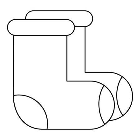footwear: Russian felt footwear icon. Outline illustration of russian felt footwear vector icon for web Illustration