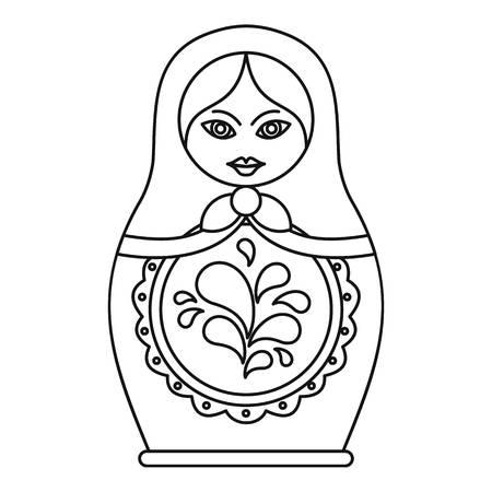 nesting: Russian nesting doll icon. Outline illustration of russian nesting doll vector icon for web