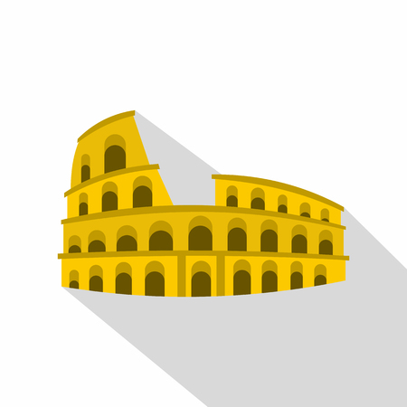 Roman Colosseum icon. Flat illustration of Colosseum vector icon for web Illustration