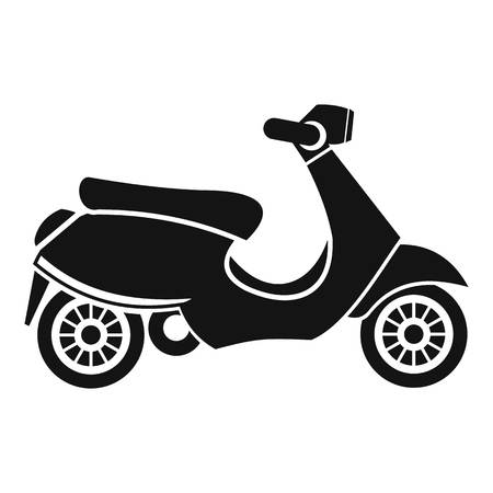 vespa: Vespa scooter icon. Simple illustration of scooter vector icon for web
