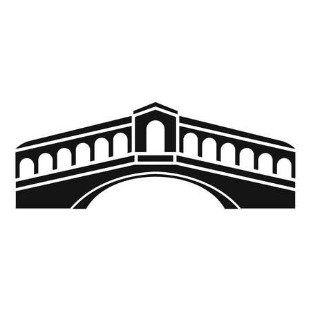 venezia: Venice bridge icon. Simple illustration of bridge vector icon for web