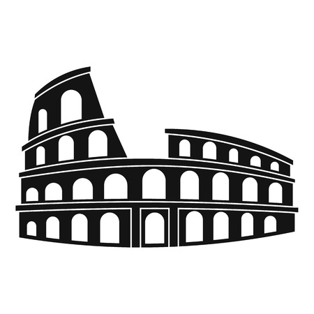 amphitheater: Roman Colosseum icon. Simple illustration of Colosseum vector icon for web Illustration