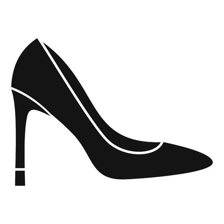high heel shoe: High heel shoe icon. Simple illustration of high heel shoe vector icon for web Illustration