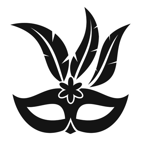 Carnival mask icon. Simple illustration of carnival mask vector icon for web Illustration