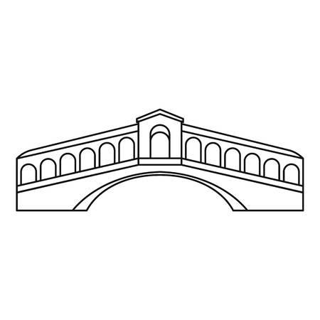rialto: Rialto Bridge in Venice icon. Outline illustration of Rialto Bridge vector icon for web