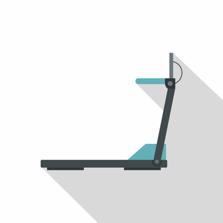 gym room: Treadmill icon. Flat illustration of treadmill vector icon for web isolated on white background