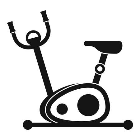 Exercise bike icon. Simple illustration of exercise bike vector icon for web Illustration