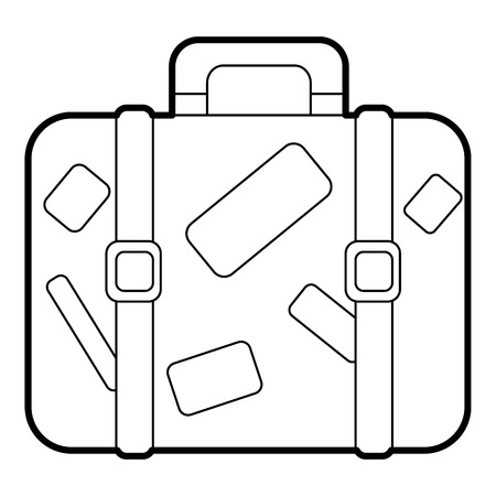 luggage carrier: Suitcase icon. Outline illustration of suitcase vector icon for web design
