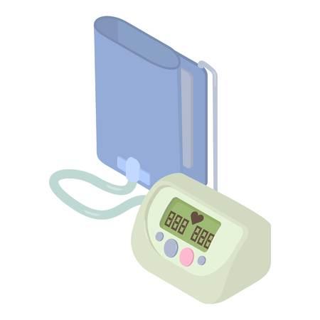 tonometer: Tonometer icon. Isometric 3d illustration of tonometer vector icon for web