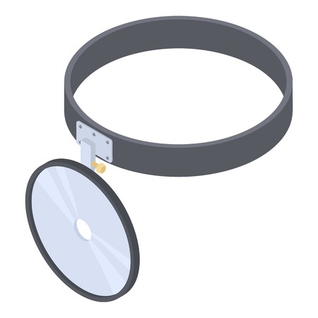 lite: Headlamp reflector icon. Isometric 3d illustration of headlamp reflector vector icon for web Illustration