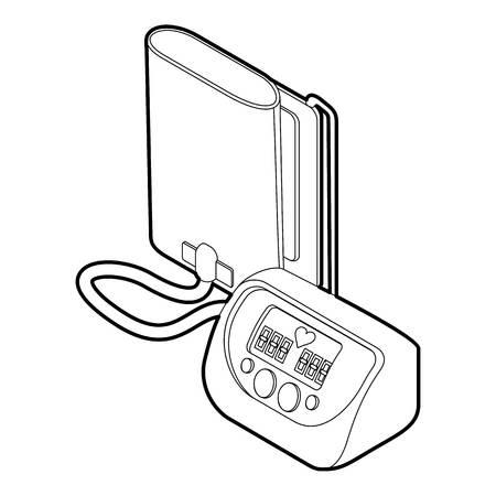 tonometer: Tonometer icon. Outline illustration of tonometer vector icon for web