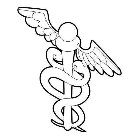 Sign medicine icon. Outline illustration of sign medicine vector icon for web Illustration