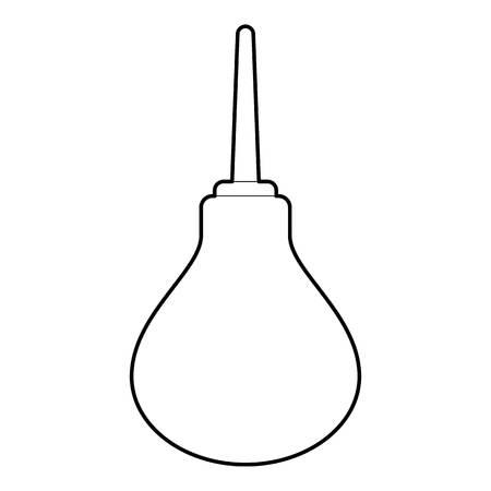 enema: Enema icon. Outline illustration of enema vector icon for web design