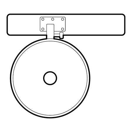 reflector: Headlamp reflector icon. Outline illustration of headlamp reflector vector icon for web design