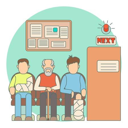 A su vez a Doctor en concepto de hospital. ilustración plana del turno para el médico en el hospital vector de concepto para la web Ilustración de vector
