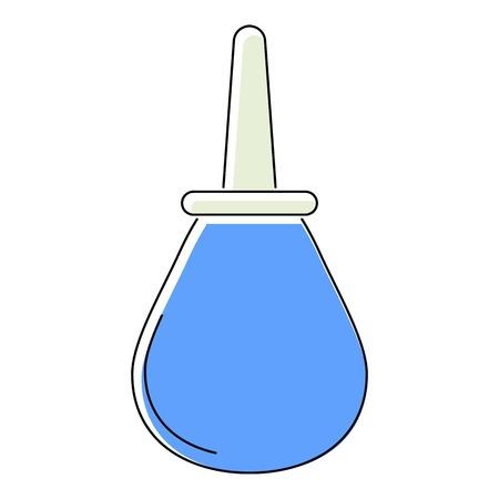 enema: Enema icon. Flat illustration of enema vector icon for web isolated on white background