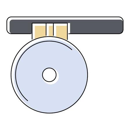 reflector: Headlamp reflector icon. Flat illustration of headlamp reflector vector icon for web isolated on white background