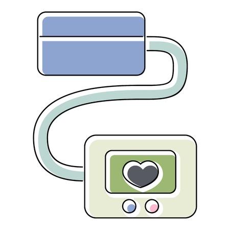 tonometer: Tonometer icon. Flat illustration of tonometer vector icon for web isolated on white background