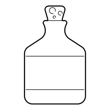 Ethanol in bottle icon. Outline illustration of ethanol in bottle vector icon for web isolated on white background Иллюстрация