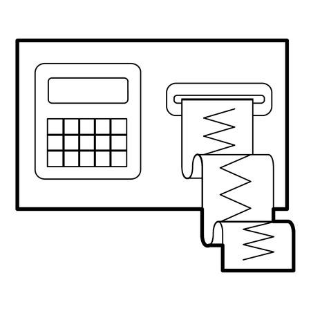 electrocardiograph: Cardiograph icon. Outline illustration of cardiograph vector icon for web