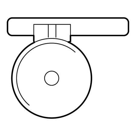 reflector: Headlamp reflector icon. Outline illustration of headlamp reflector vector icon for web isolated on white background Illustration