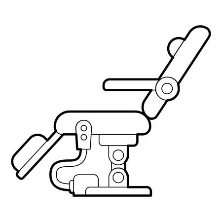 dental chair: Dental chair icon. Outline illustration of dental chair vector icon for web