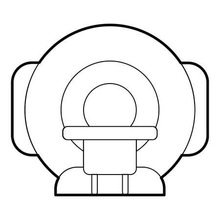 tomograph: Tomograph icon. Outline illustration of tomograph vector icon for web