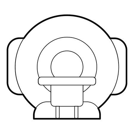 Tomograph pictogram. Overzichtsillustratie van tomograph vectorpictogram voor Web