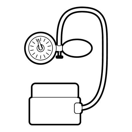 tonometer: Tonometer pressure icon. Outline illustration of tonometer pressure vector icon for web Illustration