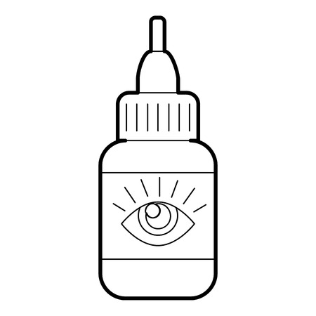 eye drops: Eye drops icon. Outline illustration of eye drops vector icon for web