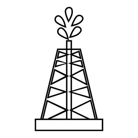 Drilling of oil well icon. Outline illustration of drilling of oil well vector icon for web