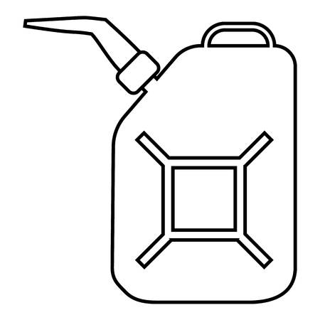 canister: Canister for gasoline icon. Outline illustration of canister for gasoline vector icon for web Illustration