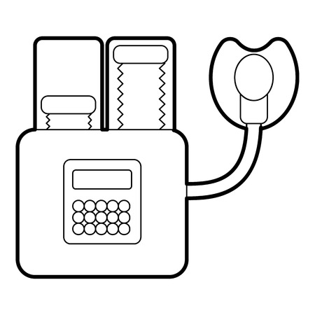 anesthesia: Apparatus for artificial respiration icon. Outline illustration of apparatus for artificial respiration vector icon for web