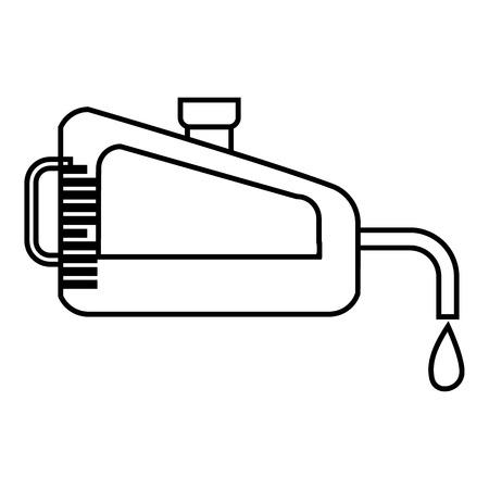 filling: Filling gun icon. Outline illustration of filling gun vector icon for web